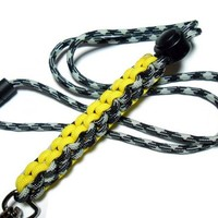 Black and Yellow Paracord Lanyard for Men Breakaway Jewelry Handmade