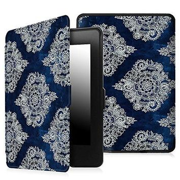 Fintie Case for Kindle Paperwhite - The Thinnest and Lightest PU Leather Cover with Auto Sleep/Wake for All-New Amazon Kindle Paperwhite (Fits All 2012, 2013, 2015 and 2016 Versions), Indigo Dreams