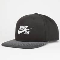 Nike Sb One Shot Pro Mens Snapback Hat Black One Size For Men 25059510001