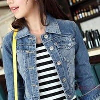 Boutique Korean Style Collar Jeans Clothing