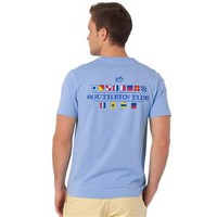 Southern Tide Nautical Flag Pocket Tee 1155 Two Colors