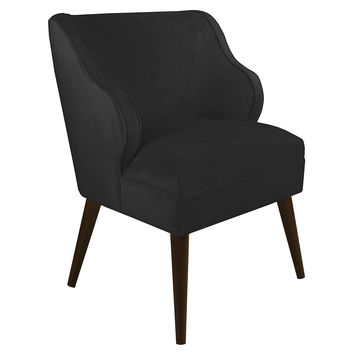 Kira Velvet Chair, Black, Accent & Occasional Chairs