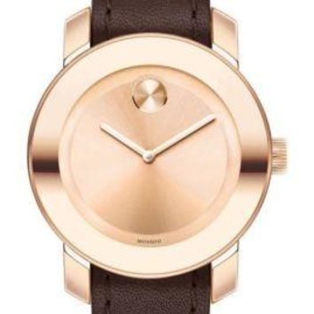 Movado Bold Leather Watch 3600364