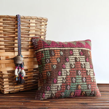 Modern Bohemain Kilim Pillow Cover - 19x19 inch - Decorative Pillows, Accent Pillow, Throw Pillow