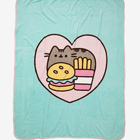 Pusheen Burger & Fries Throw Blanket