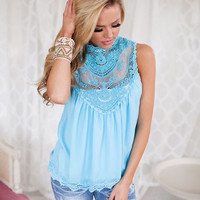 Sincere with Beauty Top Light Blue