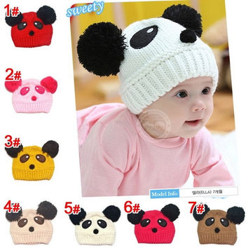 Fashion Baby Hats Toddler Girl Boy Winter Warm Cute Panda Hat Cap Beanie = 1945967812