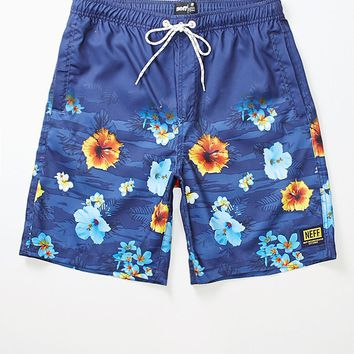 Neff Hot Tub Floral Empire Boardshorts - Mens Board Shorts - Blue