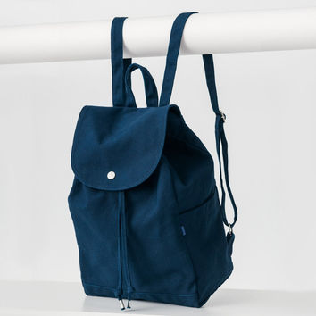 Minimal Drawstring Backpack Indigo