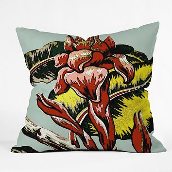 Deb Haugen Red Flame Throw Pillow