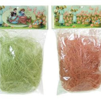 12 Sisal Grass - Easter Pink And Green