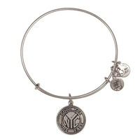 Alex and Ani NYC Subway Token Charm Bangle - Russian Silver