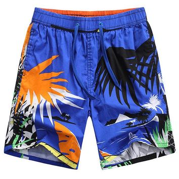 Hawaiian Style Fashion Travel Quickly Dry Icy Breathable Beach Shorts for Men