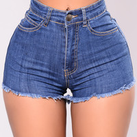 Obsession Shorts - Medium Wash