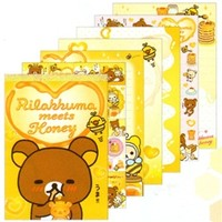 San-X Rilakkuma Meets Honey Memo Pad with Stickers: 1