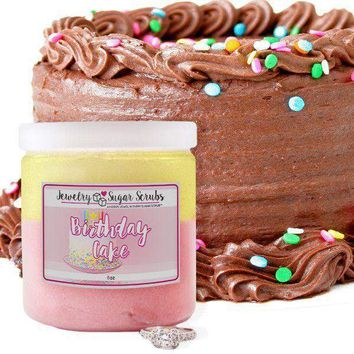 Birthday Cake Jewelry Sugar Scrub