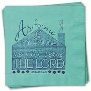 Napkin with Joshua 24:15 Bible Verse (Pkg of 16)
