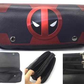 Deadpool Dead pool Taco Heros  2 Printed Pencil Case Button Zippers Pen Bag Stationery Bags Pouch Make Up School Office Supplies 1PC AT_70_6