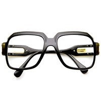 Large Classic Retro Square Frame Hip Hop Clear Lens Glasses