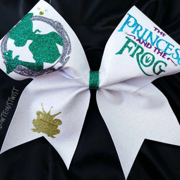 PRINCESS and THE FROG cheer bow