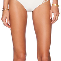 MIKOH Kapalua Multi Skinny String Side Bikini Bottom in Cream