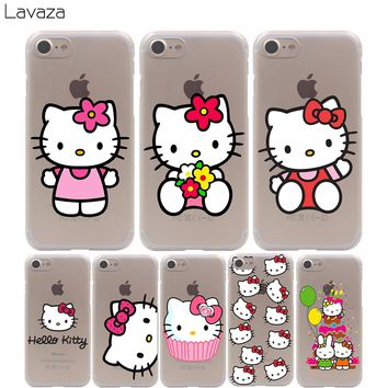 Lavaza hello kitty Case for iPhone XS Max XR X 8 7 6 6S Plus 5 5s se