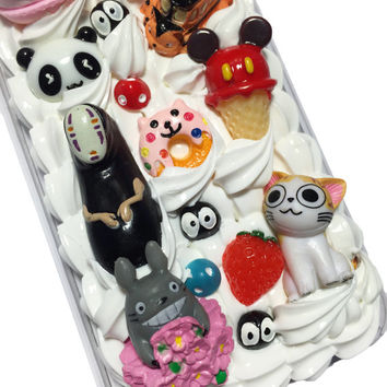 Made to Order! Studio Ghibli Totoro Kawaii Decoden Phone Case