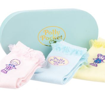 Polly Pocket Set of 3 Pairs of Socks in Gift Box