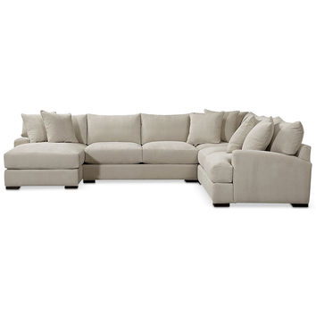 Rhyder Fabric Sectional Collection | macys.com