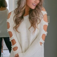 Don't Miss Me Too Much Sweater - Ivory