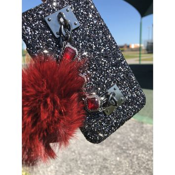 All that glitters ruby red phone case