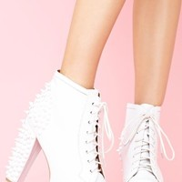 Spike Platform Boot - Whiteout