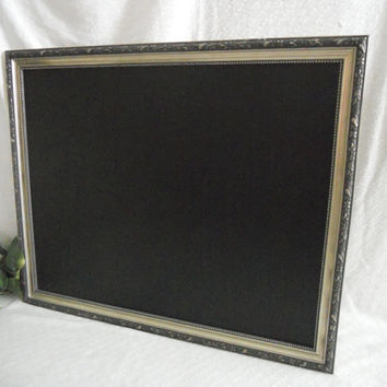 Large silver framed chalkboard, large framed chalk board, wedding chalkboard, kitchen menu board, memo board, blackboard, chalkboard frame