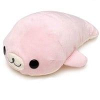 cute San-X plush toy pale pink Mamegoma seal  - Plush Toys - Stationery