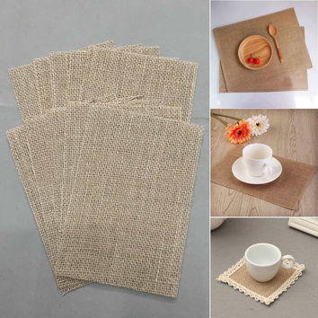 Burlap Vintage Brown Placemat