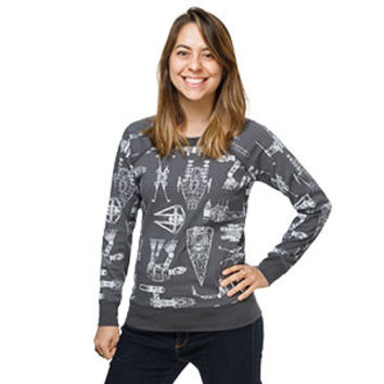 Star Wars Schematics Ladies' Reversible Pullover - Exclusive
