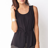 Touch-Of-Glam Beaded Top