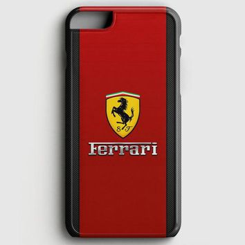 Ferrari Logo Red Black Design iPhone 6 Plus/6S Plus Case | casescraft