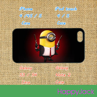 Minion, iPhone 5 case, iphone 4 case, ipod 5 case, ipod 4 case, samsung galaxy S3 , samsung galaxy S4, Blackberry Z10, Q10, Despicable Me 2