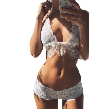 Women Wire Free Three Quarters Cup Bra & Brief Sets 0936-78