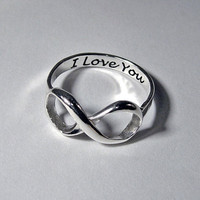 Infinity ring sterling silver handcrafted by MineOverMatter