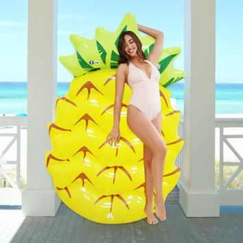 Swimming Pool Floats Pineapple 145CM Air Mattress Inflatable Pool floats For Adults Pontoon Floating Island Water Boat Swimming