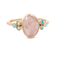 14K MORGANITE OPAL RING | Emily Amey Jewelry
