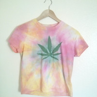 Grunge Maryjane cannabis tie dyed top