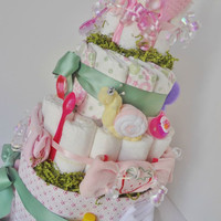 Diaper Cake Deluxe Summer Bugs, Baby Shower, Baby Gift, Centerpiece, Decoration, Easter, Ladybug, butterfly