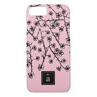 Modern, Stylish Pink Flowers iPhone 7 Case