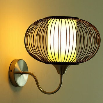 Chinese Style Wall Mounted Sconce Led Interior Home Lighting Shade Bamboo Lamp Shade Bedside/Study Room/Stair Porch Lamp