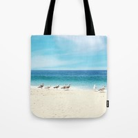 wave watching Tote Bag by sylviacookphotography