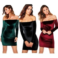Women's Fashion Winter Sexy Dress [11405245455]
