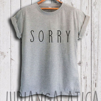 "justin bieber shirt justin bieber song ""sorry"" tshirt justin bieber merch shirt unisex size"